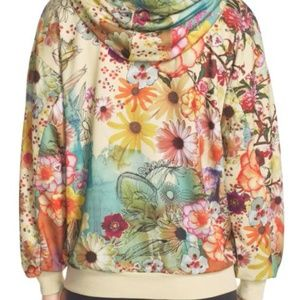e56bc2694f38 Adidas Tops - RARE Adidas Farm Confete Trefoil Floral Hoodie